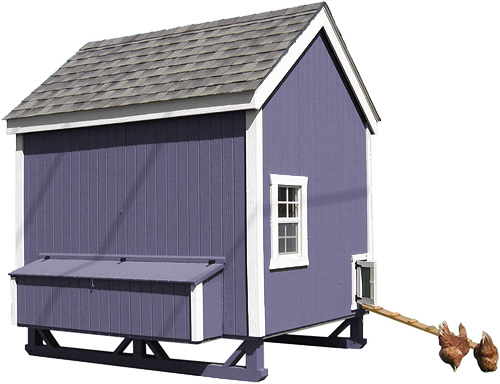 Purple Paint with White Trim on a Little Cottage Company Chicken Coop Kit