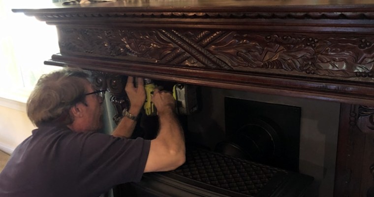 Adding a Heat Shield to the Antique Mantel