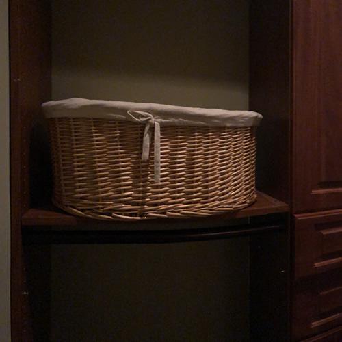 Basket in Custom Closet