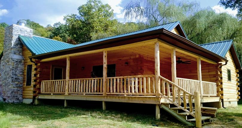 Add a Log Cabin Style Porch!