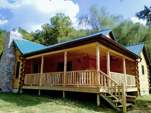 Northern White Cedar Log Railing and Spindles from Log Cabins for Less
