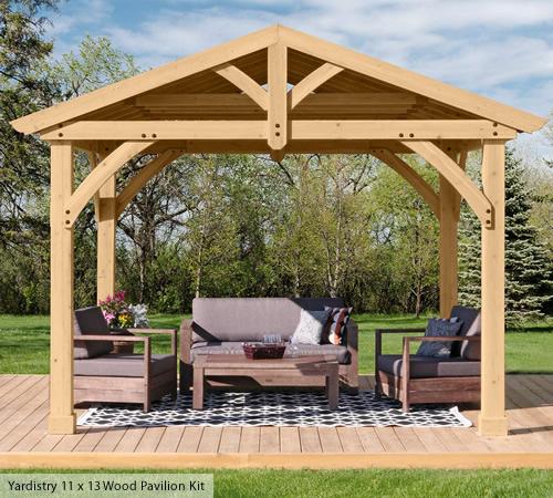 Yardistry 11x13 DIY Wood Pavilion Kit
