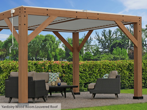 Yardistry Wood Room Kit with Louvered Roof