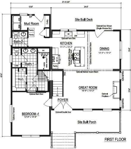 Nationwide Homestead Farmhouse I First Floor Plans