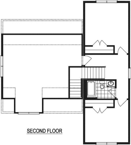 Nationwide Homestead Farmhouse I Upstairs Floor Plan Flipped