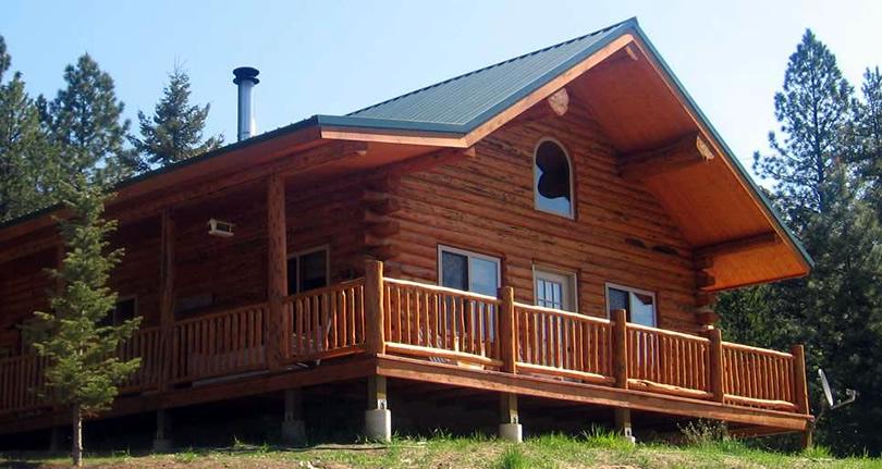 Green Gables Log Cabin Kit from Meadowlark Log Homes