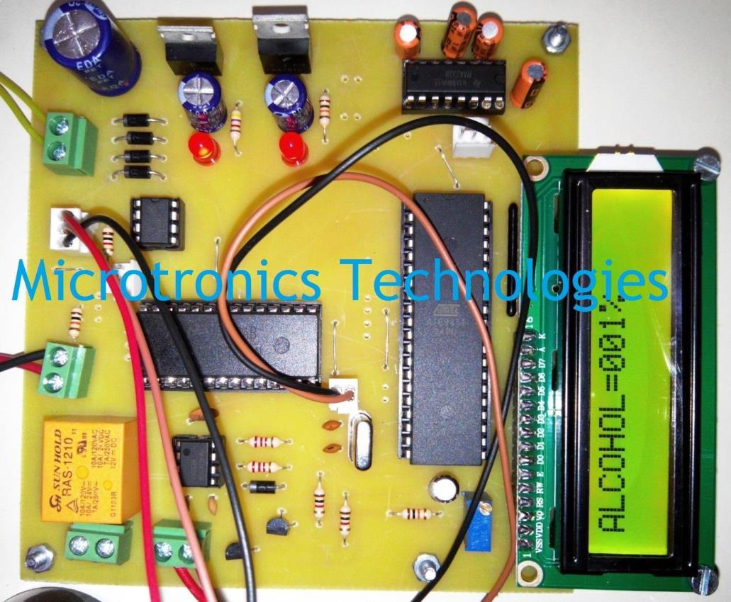 electronics mini projects with circuit diagram trailer 7 wire alcohol detection system vehicle controlling detector for car