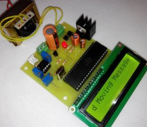 Microcontroller based Moving Message Display On LCD