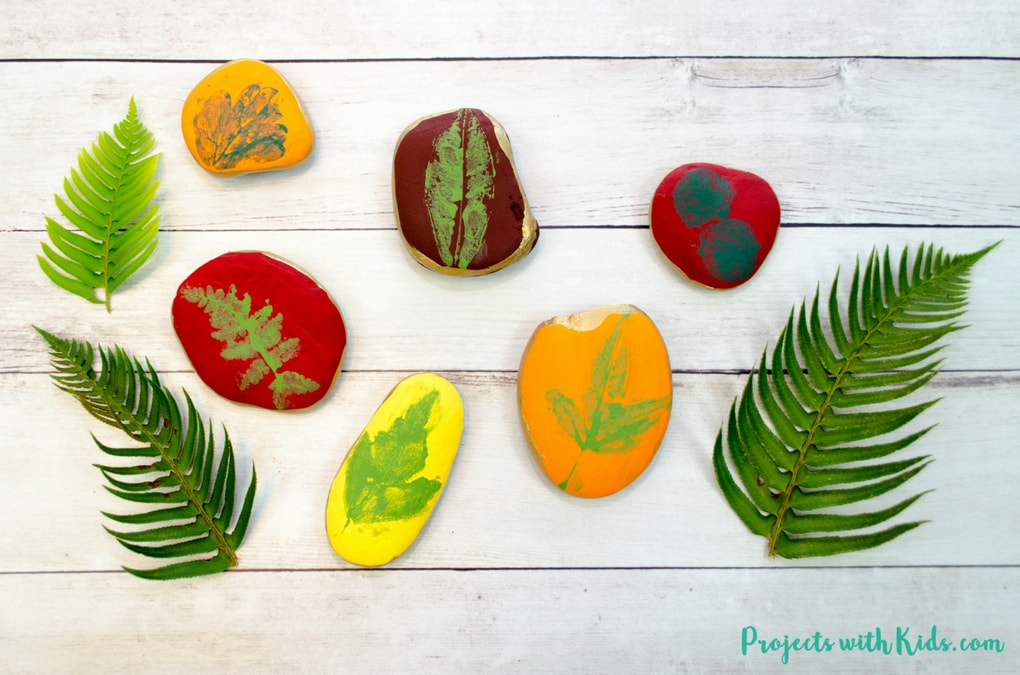 easy leaf printing on
