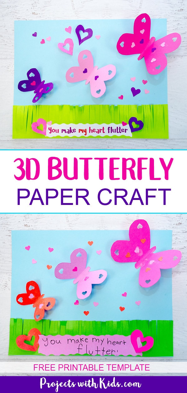 Make A Beautiful 3d Butterfly Paper Craft Projects With Kids