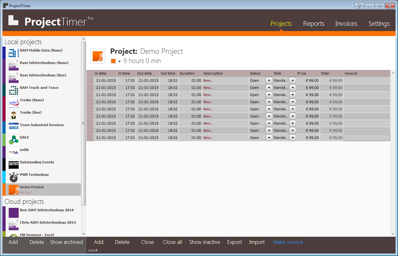 Project Timer Invoicing Software For Windows Project - Invoice software windows