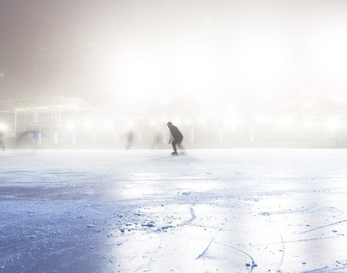 Op de schaatsbaan