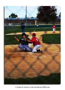 Sebastian sliding for home and scoring during the Crystal Lake AAA Fall League Final.