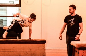 Chorley parkour classes in action