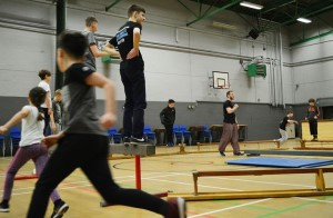 Leigh parkour classes in action
