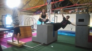 Manchester parkour classes in action