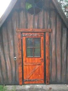 Tür und Fassade des Hexenhauses