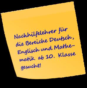 Nachhilfelehrer gesucht von Projekt Lernhilfe Schülernachhilfe in der Wedemark, Langenhagen, Kaltenweide und Schwarmstedt