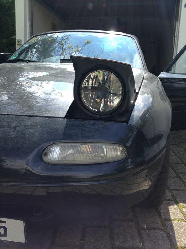 Vorher - Originale Mazda-Blinker