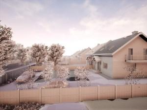 model osiedla domków jednorodzinnych