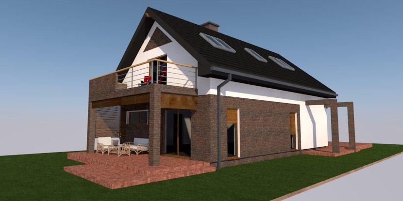 nowoczesna stodoła projekt elewacji