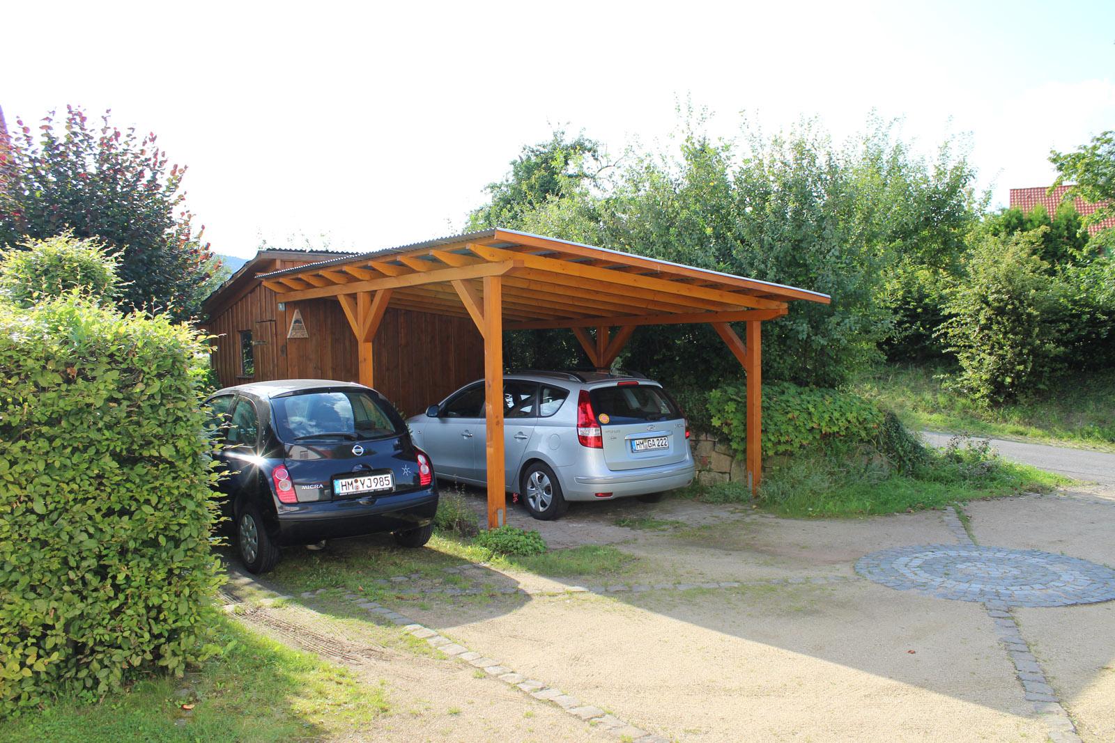 Carport mit Pultdach  Projektwerkstatt HOLZ