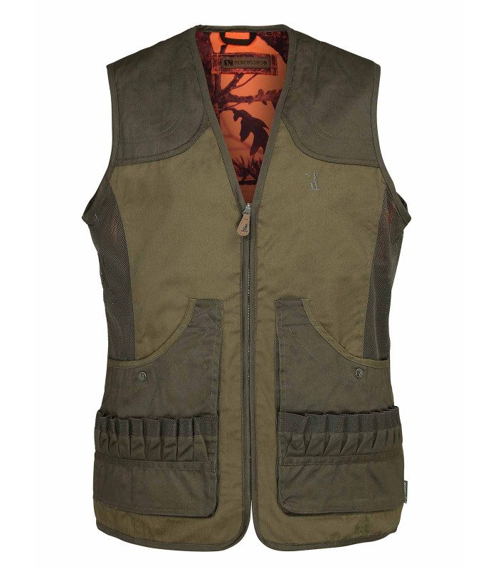 gilet chasse percussion savane reversible ghost camo