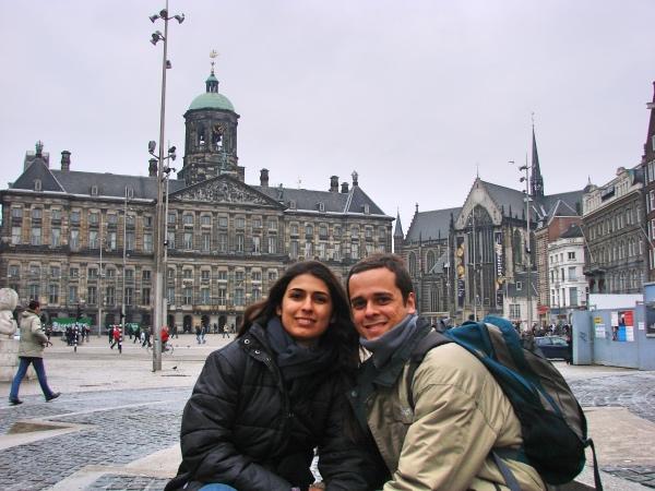 Dam Square (Royal Palace e Nieuwe Kerk)