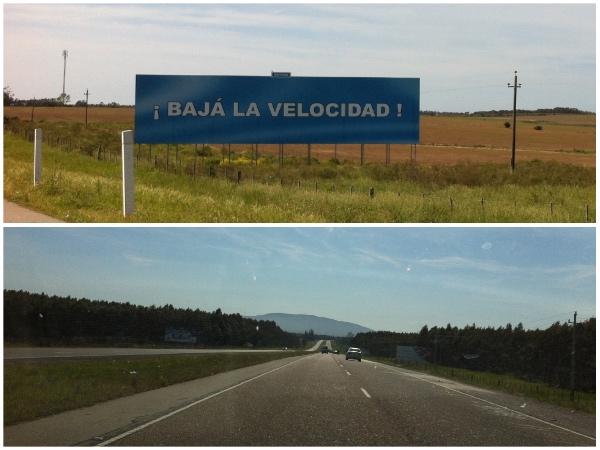 Estrada entre Montevidéu e Punta del Este: bem conservada e sinalizada