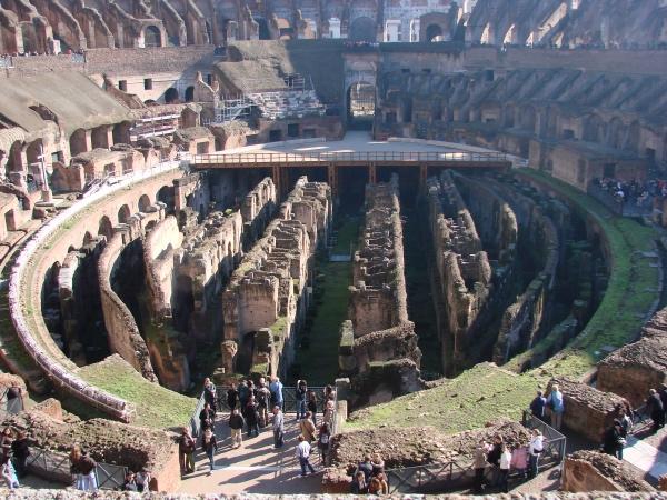 Na única vez que entramos no Coliseu