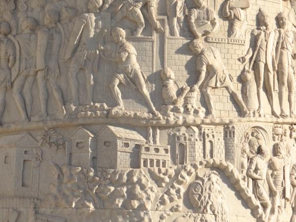 Detalhes da Coluna de Trajano