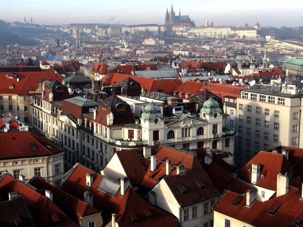 Castelo de Praga visto da Torre do Relogio