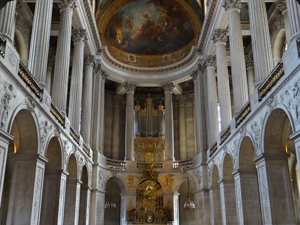 A capela que fica dentro do Palácio de Versalhes