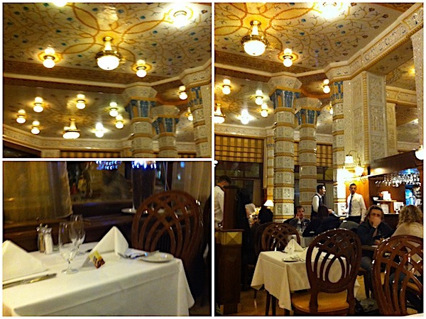 O interior do Café Imperial de Praga