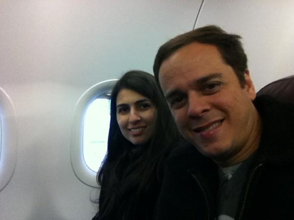 No voo Varsóvia - Budapeste