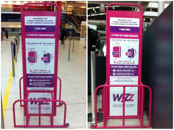 Medidor mala Wizz Air