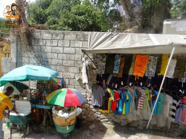 Comercio informal em Porto Principe