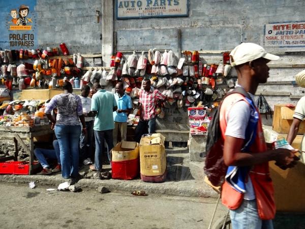 Lojas de rua em Porto Principe