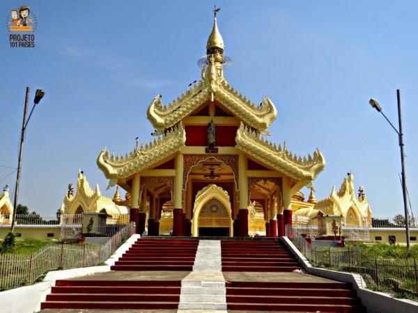 A entrada principal da pagoda