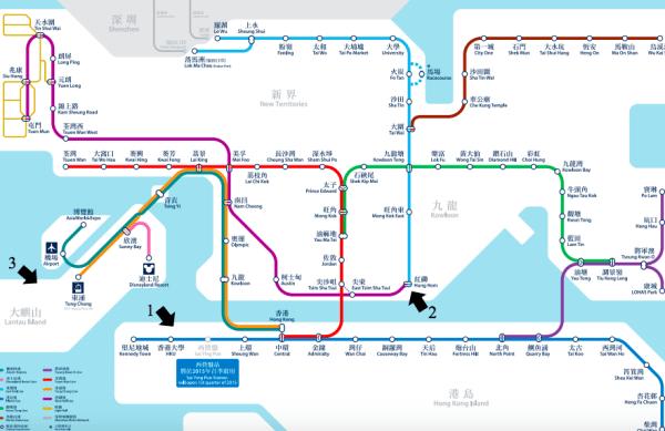 Mapa do Metro de Hong Kong