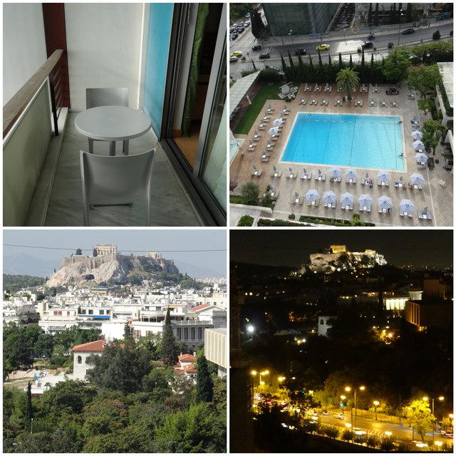 Vista do Quarto Executivo Hilton Atenas