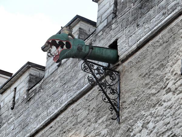 Dragão do prédio da prefeitura