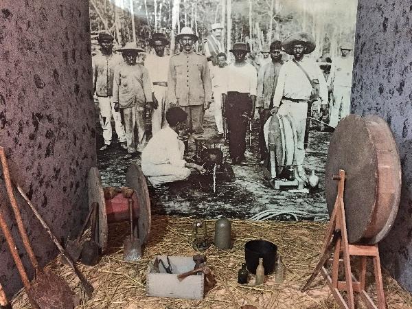 Fotos no centro cultural indígena