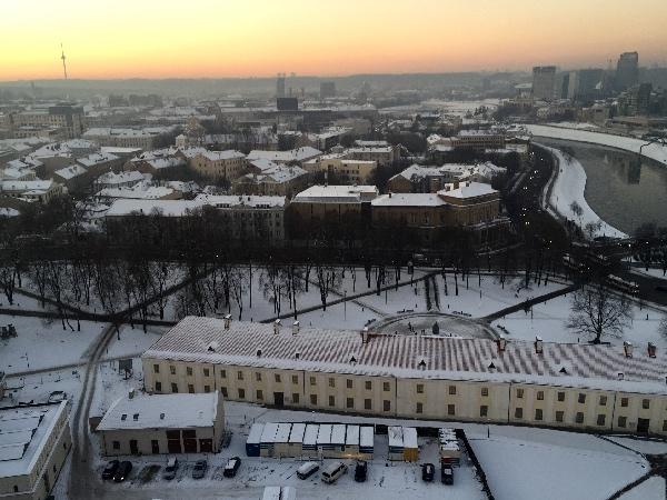 Vista de Vilnius Gediminas Tower