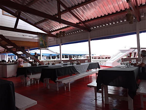 O restaurante onde almoçamos