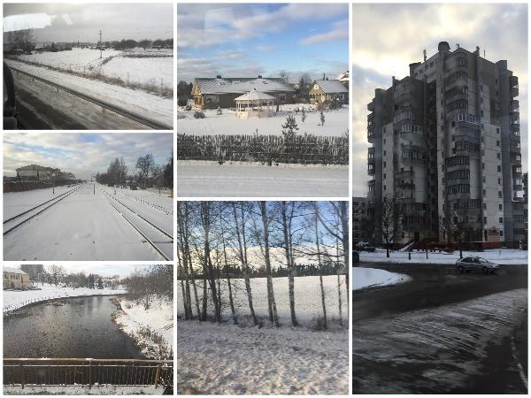 Paisagem estrada de Riga a Vilnius