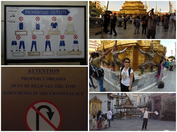 Palacio Real Bangkok Roupas