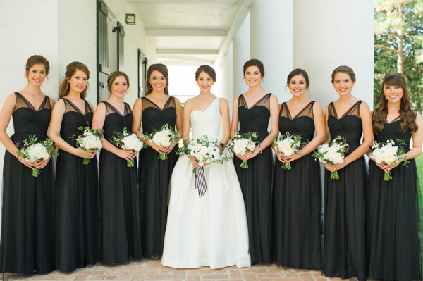 southern-wedding-black-bridesmaid-dresses1