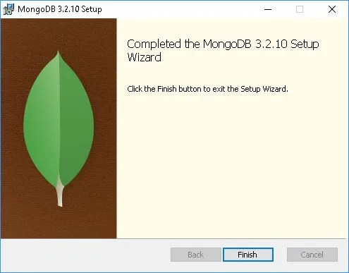 mongodb windows installation terminee