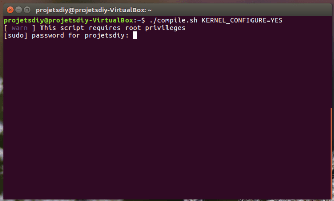 armbian build start compile